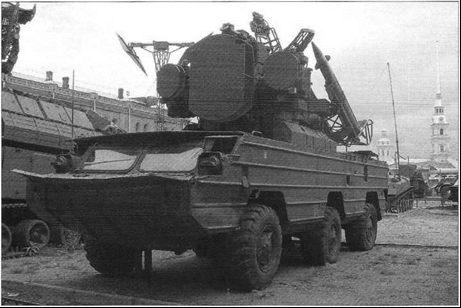 Боевая машина 9АЗЗБ зенитного ракетного комплекса 9КЗЗ «Оса»