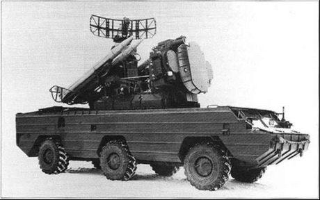 Боевая машина 9АЗЗБ с четырьмя ЗУР 9МЗЗ на шасси БАЗ-5937.