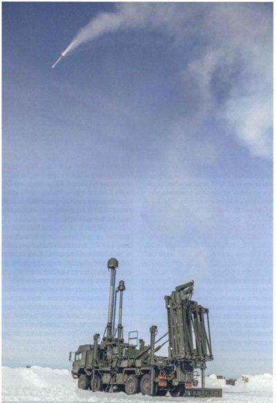 Пуск модульной ЗУР САМ перспективной системы ПВО