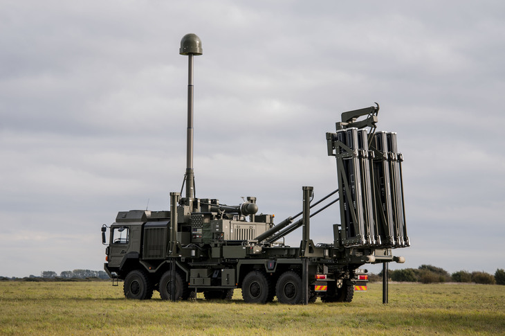 Мобильная пусковая установка ЗРК Sky Sabre